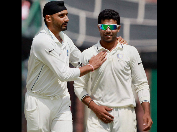 Harbhajan (left) replaced Ravindra Jadeja (right) in the Test team