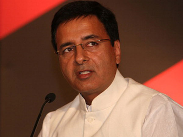 Congress leader Randeep Singh Surjewala