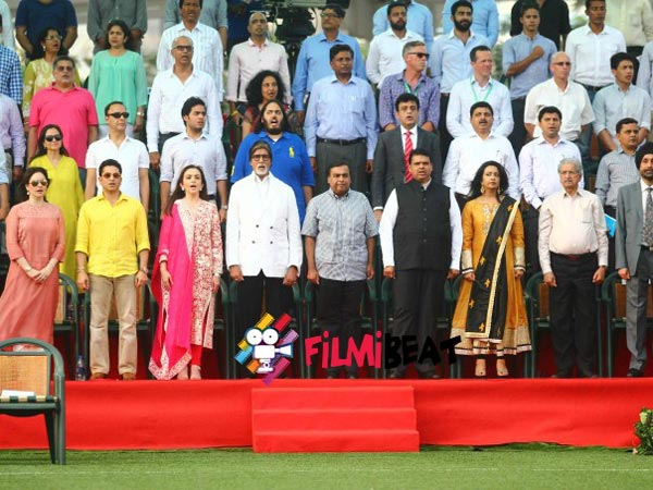 The celebs at the inauguration ceremony of the Jio Gardens