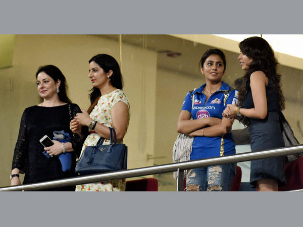 Sachin's wife, Rohit Sharma's fiancee at Wankhede