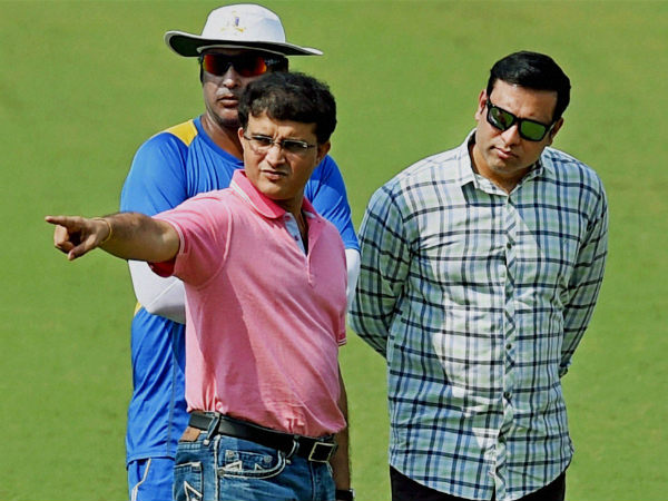 File photo: Ganguly with Laxman