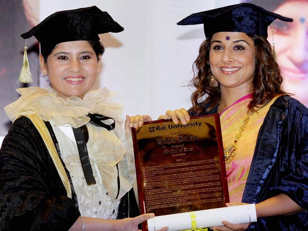 Pics: Vidya Balan conferred with honorary doctorate