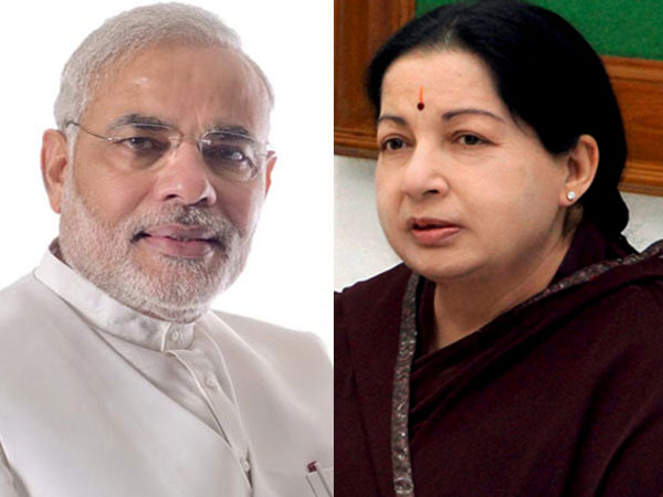 Jayalalithaa writes to PM Modi,  urges him to secure release of 14 fishermen.