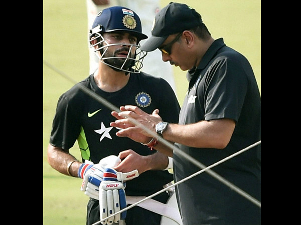 Kohli (left) with Shastri