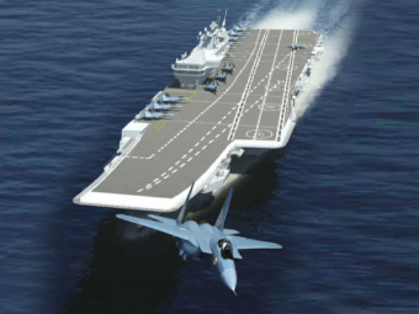 India's first indigenous aircraft carrier INS Vikrant undocked.