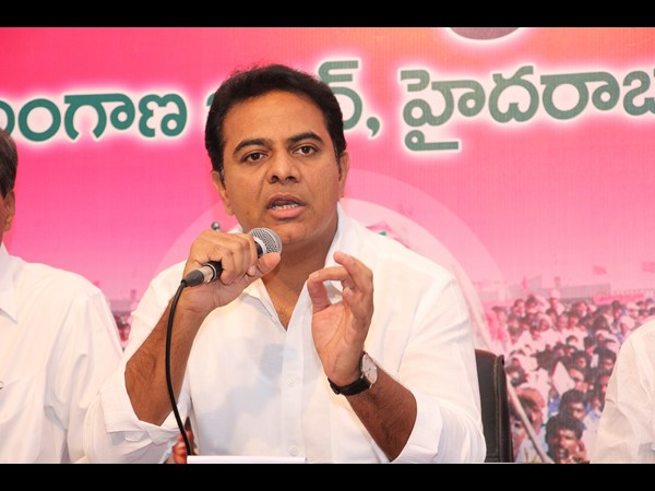 TRS leader K T Rama Rao. File photo