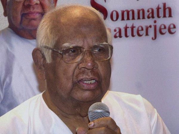 File photo of Somnath Chatterjee