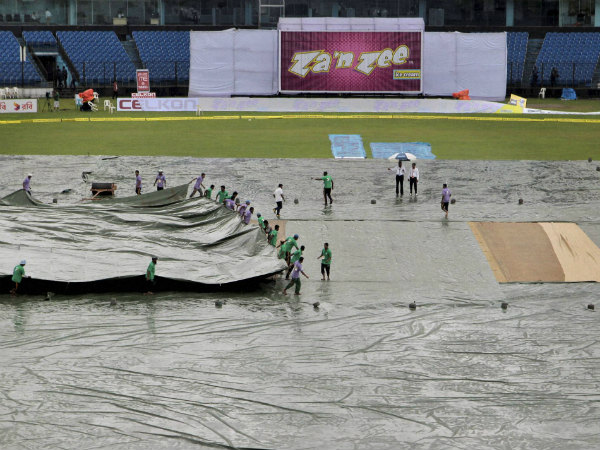 The scene on all 5 days at Fatullah during the one-off Test
