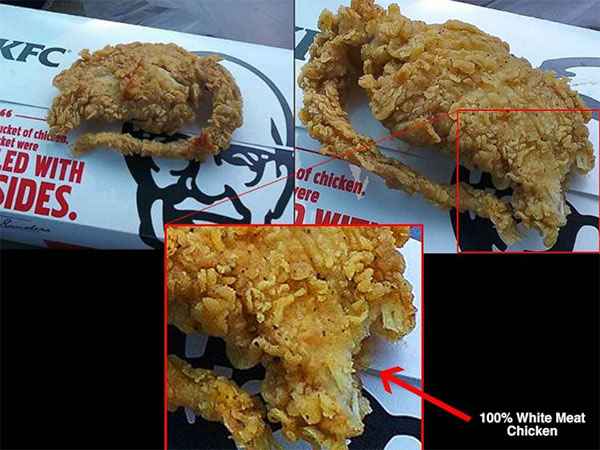 KFC Rat Controversy: Photo posted by the complainant