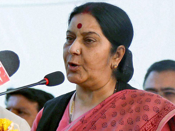 Sushma Swaraj leaves for Nepal