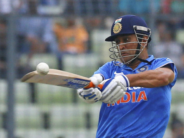 MS Dhoni plays a shot en route to 69