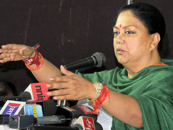 Raje leaves Delhi with meeting PM