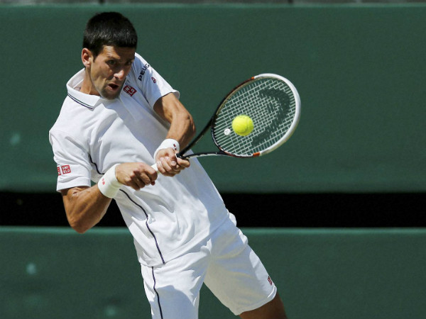 File photo of Novak Djokovic at Wimbledon last year