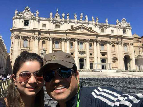 Sachin with his daughter