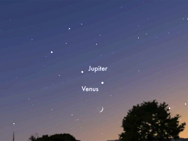 Jupiter and Venus to come close