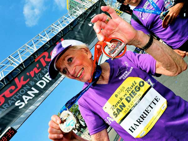 92-year-old becomes oldest marathon runner.