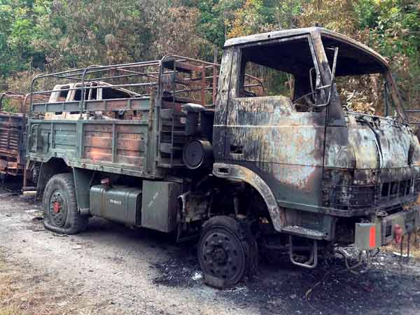 charred-army-truck