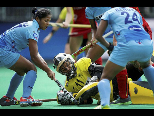 File photo of Indian players in action at HWL
