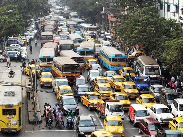 Kolkata traffic jam