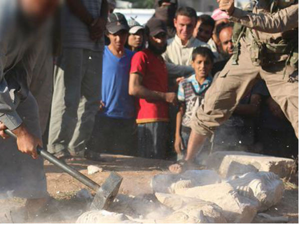 ISIS militants smashed statues
