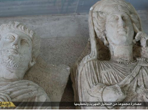 Ancient statues destroyed in Palmyra