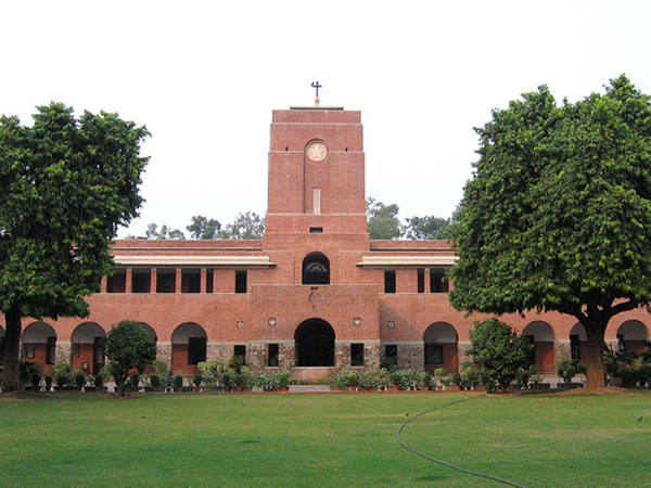ABVP protests at St.Stephen's College over sexual harassment.