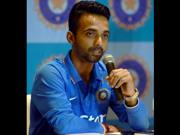 Captain Rahane speaks to the media on Monday