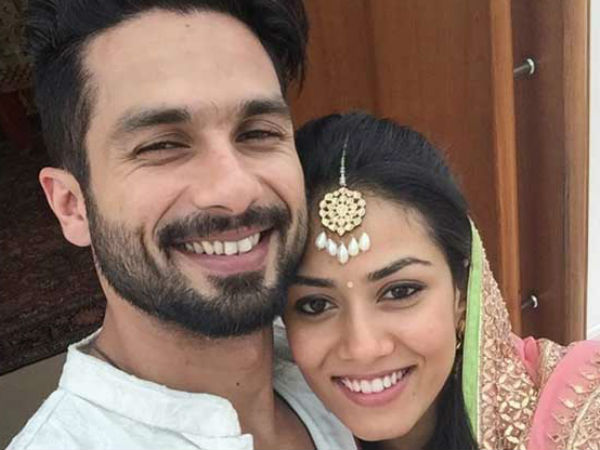 Shahid shares first selfie with wife