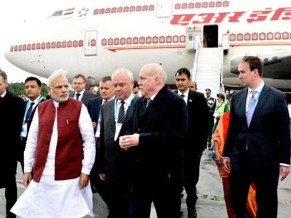 PM Narendra Modi arrives in Ufa, Russia
