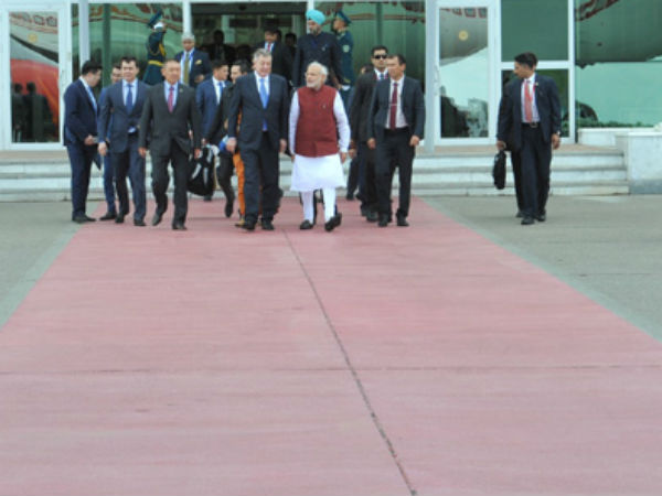 PM Modi in Kazakhstan before leaving for Russia