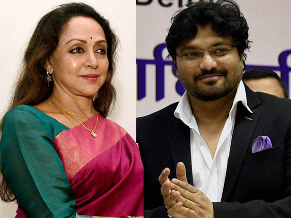 Hema Malini and Babul Supriyo