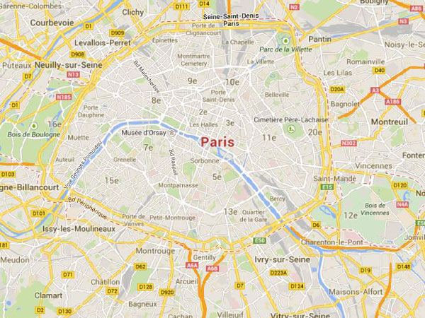 France Hostage Persons Taken Hostage At Store Near Paris - Paris map 2016