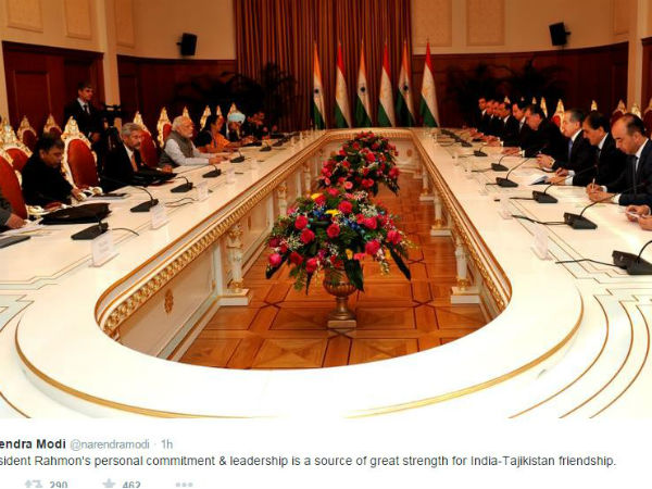 PM Modi meets Tajikistan leaders
