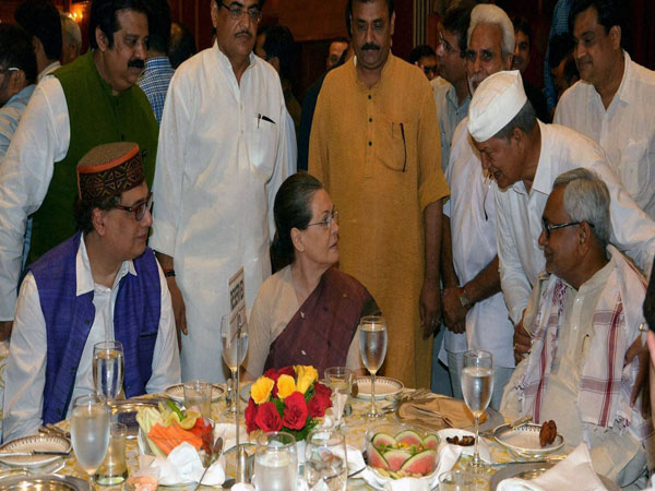Sonia Gandhi with guests