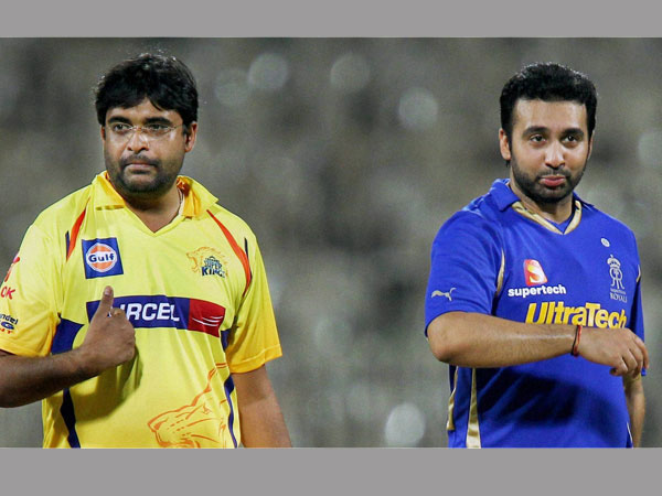 Banned for life: Meiyappan (left) and Kundra