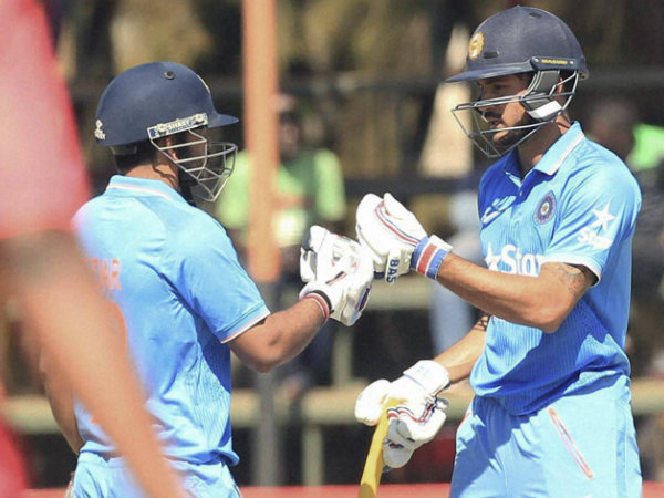 Manish Pandey, right, and Jadhav during their partnership