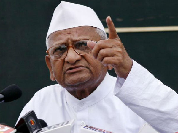 BJP reneged on poll promise of OROP implementaion, Hazare to PM.
