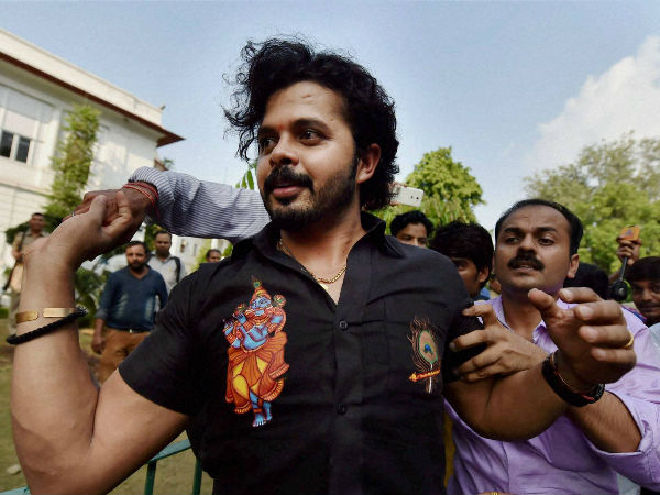 Sreesanth coming out of the Patiala House Courts in New Delhi