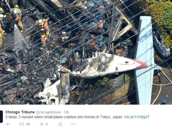 Three killed in Japan air crash
