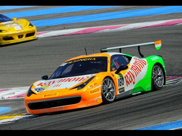Gautam Hari Singhania in action at the Ferrari Challenge Europe Championship