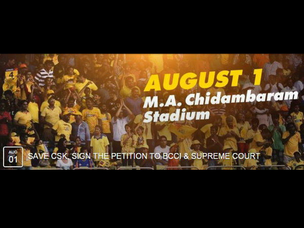 #SaveCSK campaign cover photo on Facebook page