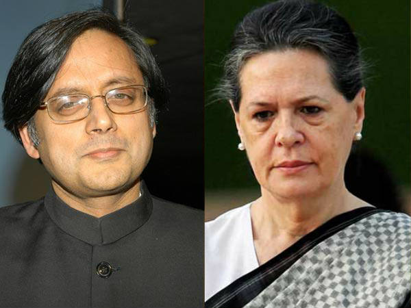 Sonia Gandhi angry with Shashi Tharoor
