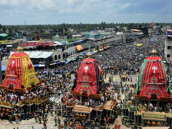 Indians organised Rath Yatra in US