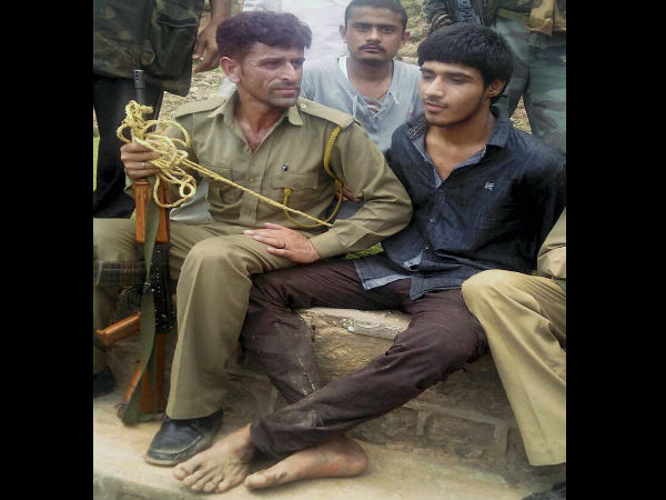Captured terrorist identified as Naved from Pakistan.