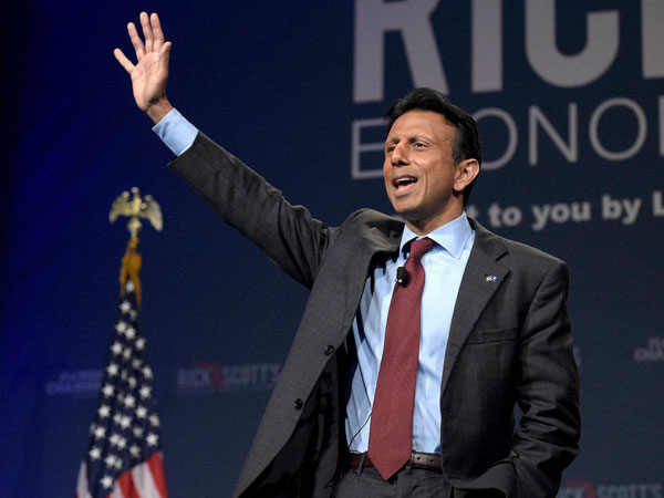 Bobby Jindal does push-ups