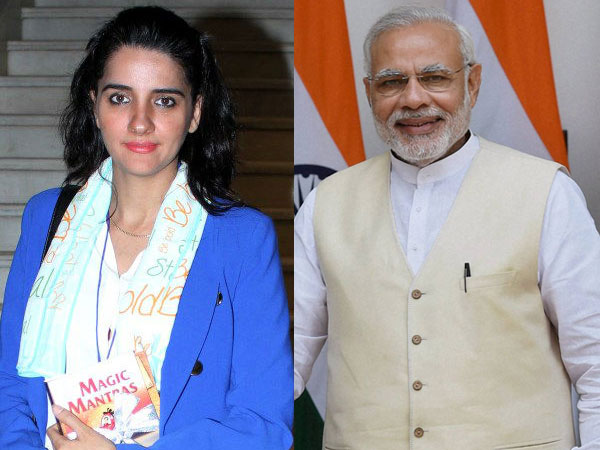 Shruti Seth and Narendra Modi