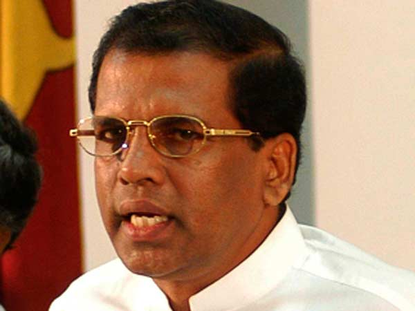 Won't appoint Rajapaksa as PM: Sirisena