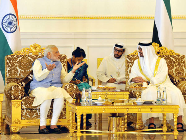 PM Narendra Modi meeting the Crown Prince of Abu Dhabi