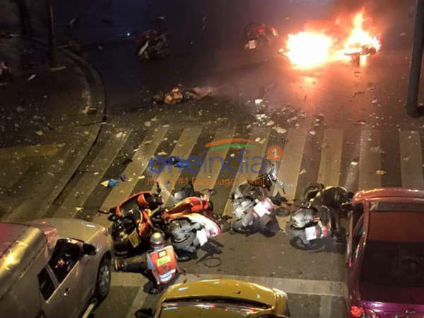 Exclusive images of Bangkok blast