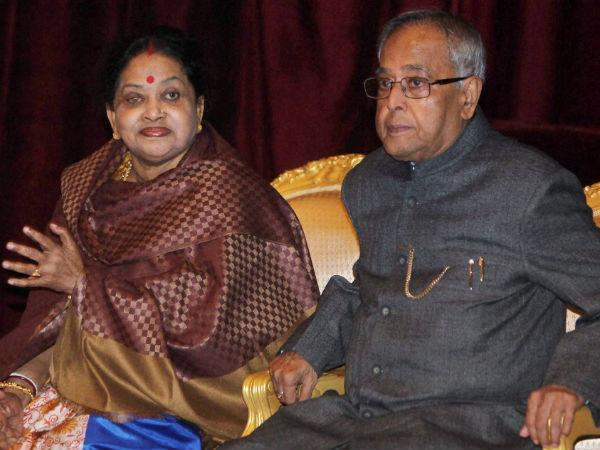 President Pranab Mukherjee with the First Lady (File Photo)